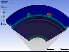 载人潜水器观察窗压力试验底座强度校核