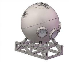 载人潜水器载人舱应力和极限承载有限元分析